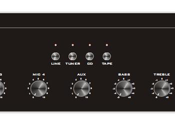 Amplificateur mélangeur MA240H 240W  8 Entrées + sélecteur de sources