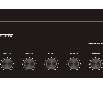Amplificateur Mélangeur MA3505B 350W 5 ZONES