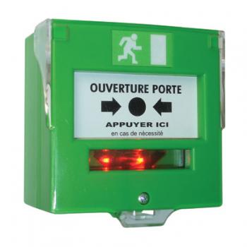 Déclencheur manuel à membrane déformable avec LED intégrée