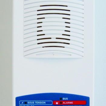 Alarme incendie type 3, catégories D,E : Bloc Autonome d'Alarme Sonore Manuel (type Ma)