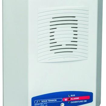 Alarme incendie type 3, catégories D,E : Bloc Autonome d'Alarme Sonore Manuel avec Message enregistré et avec flash (type MaMe Flash)