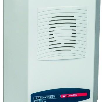 Alarme incendie type 2b, catégories C,D,E : Bloc Autonome d'Alarme Sonore Satellite avec Message enregistré (type SaMe)